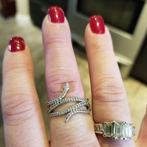 Pandora snake ring sterling silver size 6